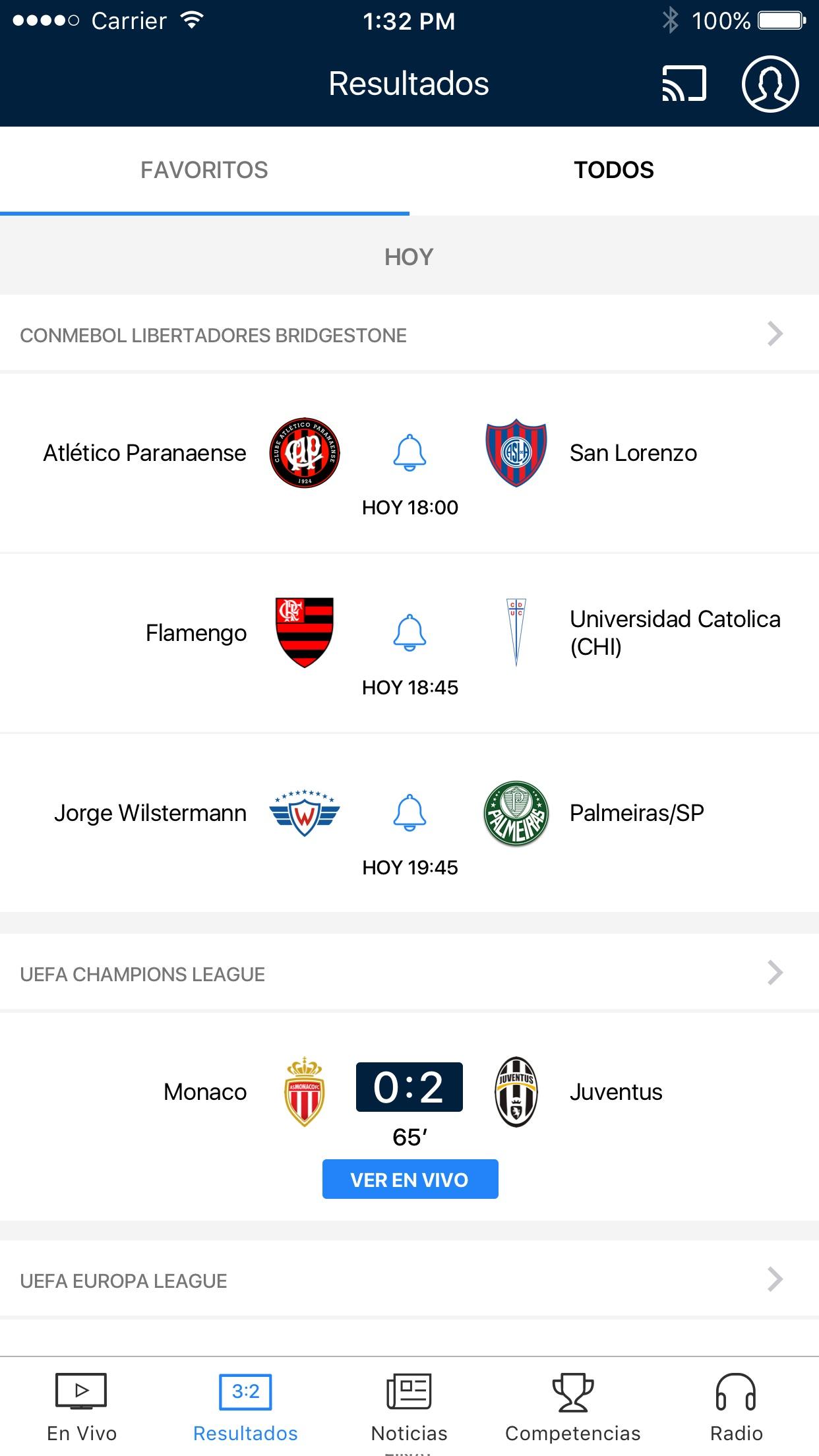 FOX Sports Latinoamérica Screenshot