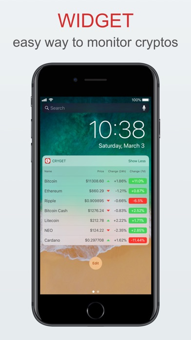 Cryget - Cryptocurrency Widget Preview 0