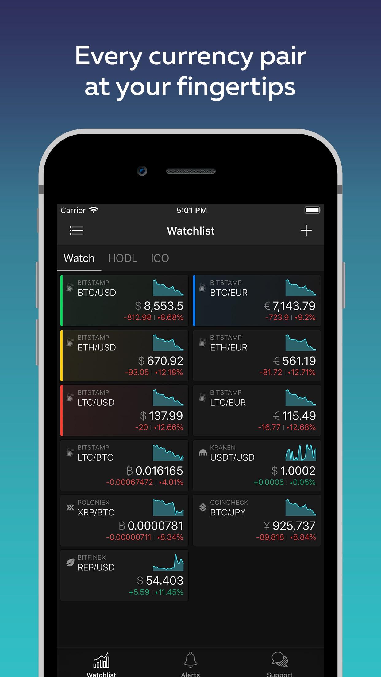 TabTrader Bitcoin Screenshot