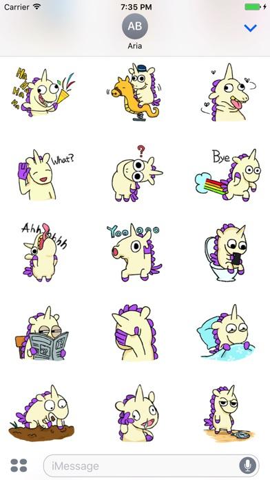 Crazy And Cute Unicorn Sticker screenshot 2