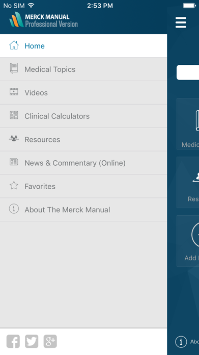 Merck Manual Professional Screenshot