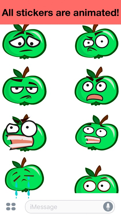 Apple animated - Cute stickers screenshot-3