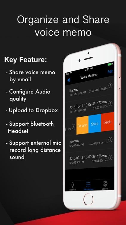 Voice Recorder HD-Audio Recording,Playback,Sharing screenshot-3