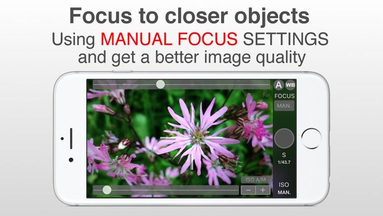 SLR Pro Camera Manual controls