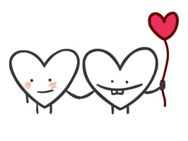 Check out these fun and cute heart stickers to send to your Valentine