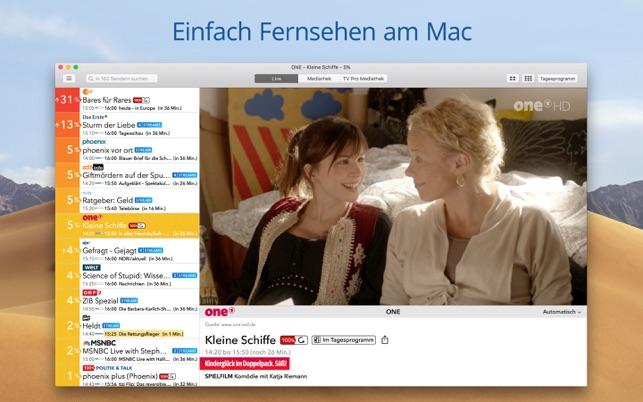 Live TV - Fernsehen im Mac App Store