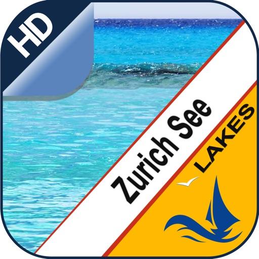 Zurich Lake GPS offline nautical chart for fishing