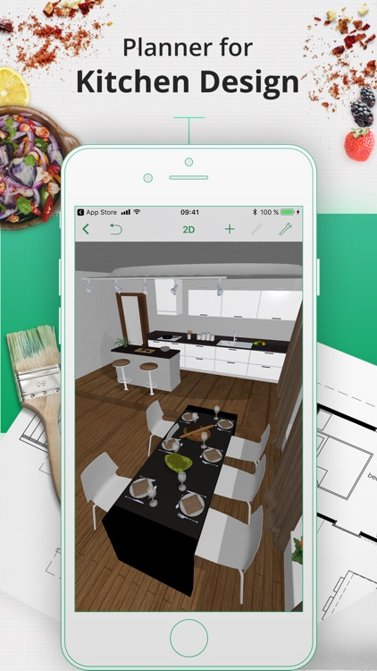 kitchen planner decorator by planner 5d llc