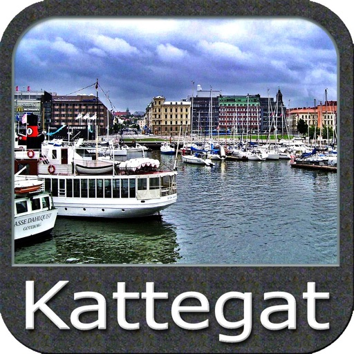 Marine Kattegat GPS chart fishing map navigator