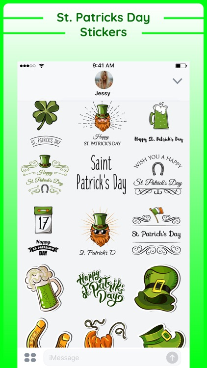 Happy St Patricks Day Sticker