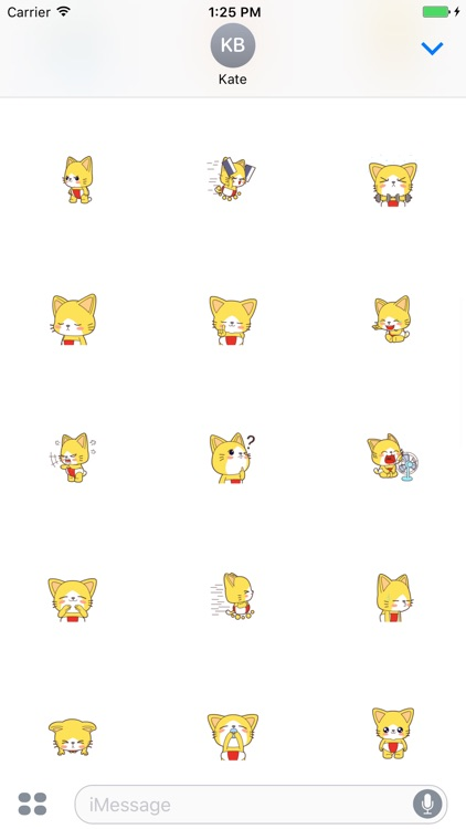 Nat Cat animated stickers - 70++ icons