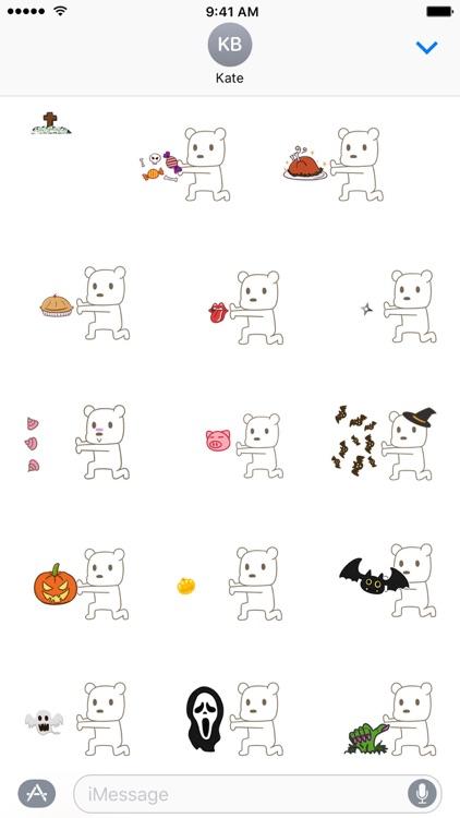 KongFu Bear (Halloween) - NHH Animated Stickers