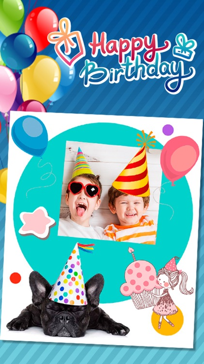 Birthday Greeting Cards Photo Editor Pro Screenshot 2
