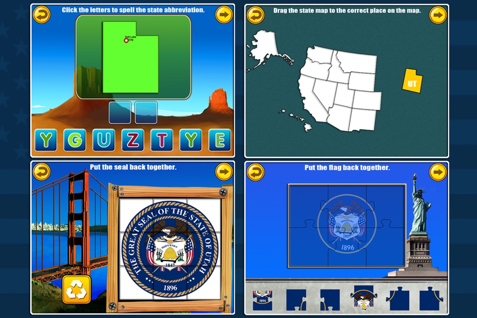 Fifty States and Capitals Learning Games Apps kids - Online ... on 50 states magnets, 50 states stickers, 50 states colors, 50 states homework, 50 states vocabulary, 50 states clip art, 50 states coloring, 50 states and capitals puzzle, 50 states math, 50 states printable,