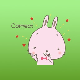 Evy The Pink Cutie Rabbit Stickers