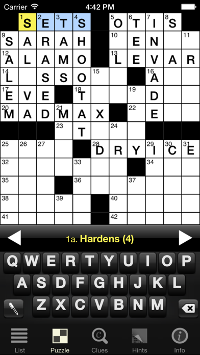 Crossword Light screenshot one