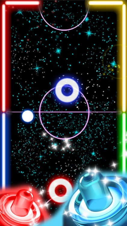 Glow Hockey HD - 2 Player Neon Light Air Hockey screenshot-3