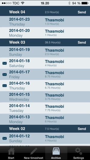 daily timesheet on the app store