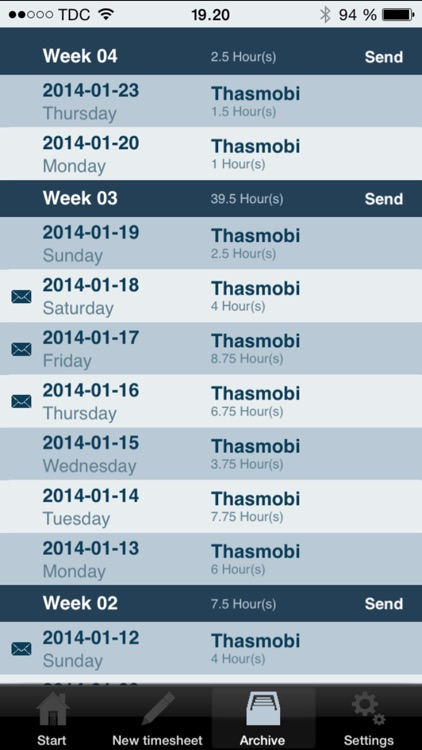 Daily Timesheet screenshot-0