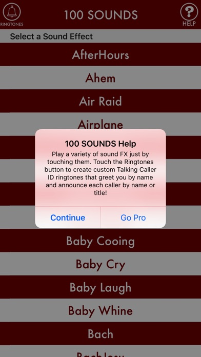 Screenshot for 100sounds + RINGTONES! 100+ Ring Tone Sound FX in Kazakhstan App Store