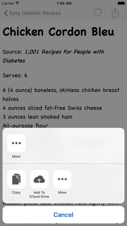 Easy Diabetic Recipes screenshot-4