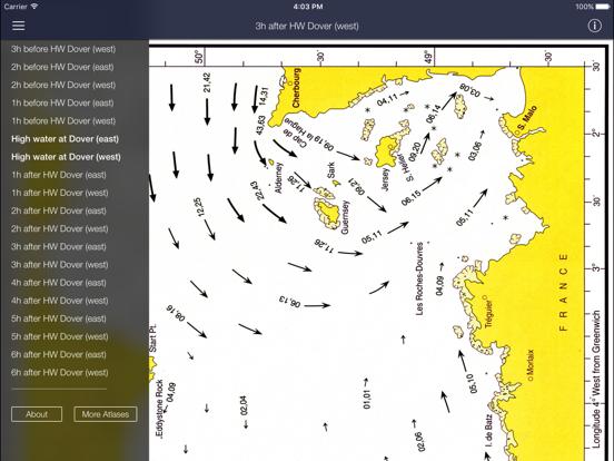 Stroomatlas, The English Channel iPad app afbeelding 2
