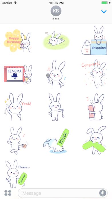Zinnia The Lovely Rabbit English Stickers screenshot three