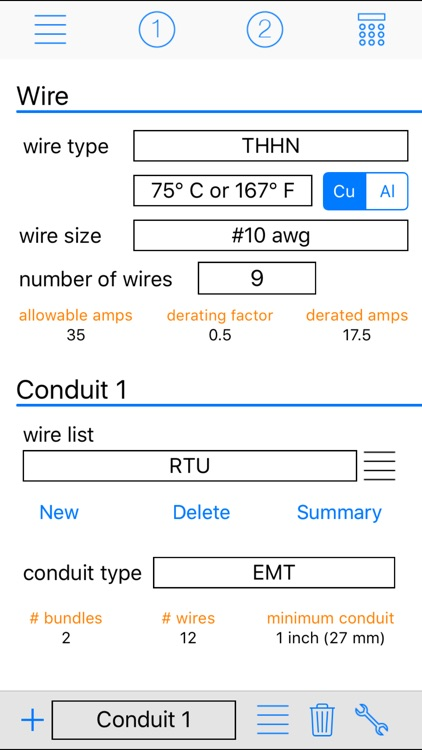 Conduit Calc Pro screenshot-0