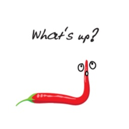 Hot Chili Pepper Talk stickers by wenpei