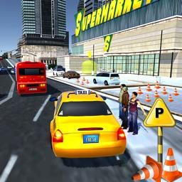 Taxi Driver 3D Simulator - Supermarket Parking