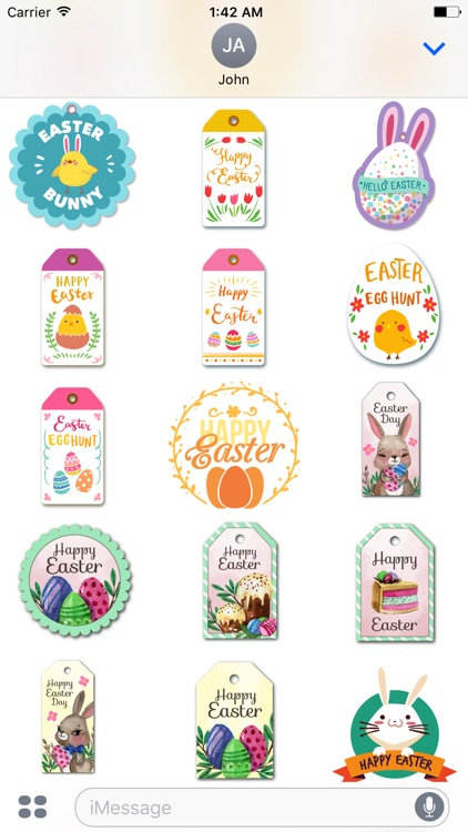 Happy Easter Sticker for iMessage screenshot-3