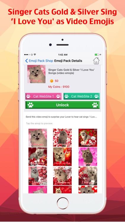 Cat Keyemoji Free-Kitty Sticker Gif Video Emoji screenshot-0