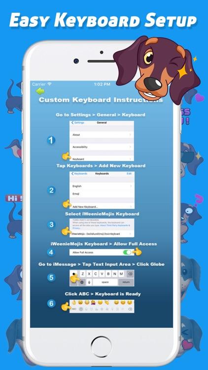 iWeenieMojis - Dachshund Emoji Doxin Keyboard screenshot-4