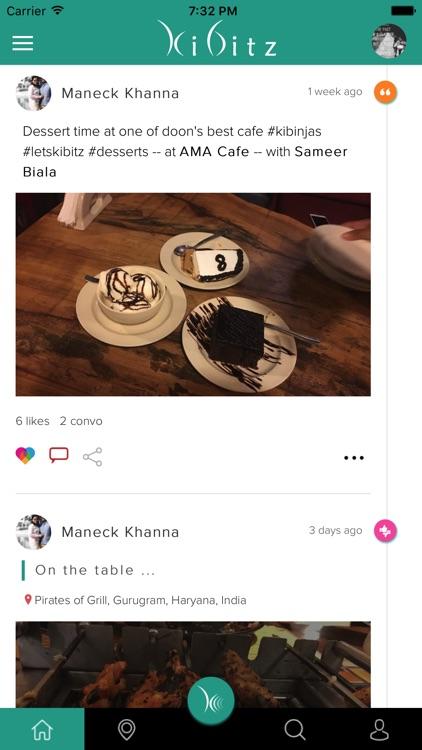 Kibitz – The Food Social Network
