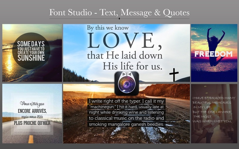 Font Studio - Text, Message & Quotes for Mac