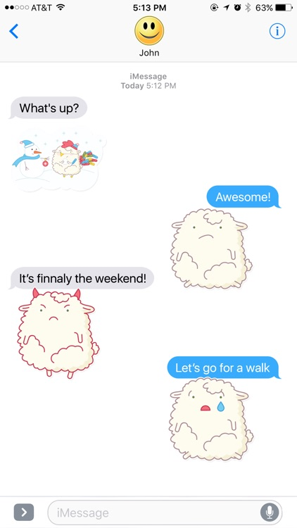 Funny and Fluffy Sheep Stickers