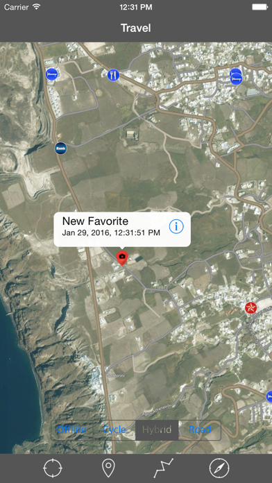 SANTORINI (GREECE) – Travel Map Offline Navigator screenshot three
