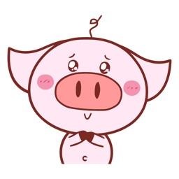Pretty Pig Animated Emoji Stickers