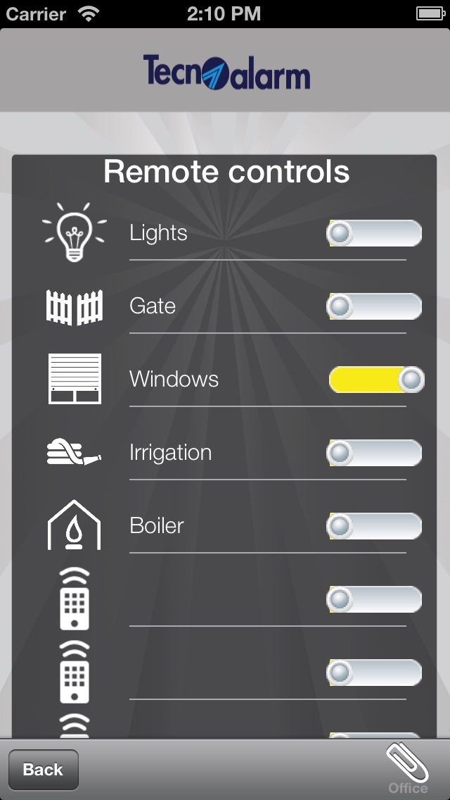 Screenshot for myTecnoalarm in Italy App Store