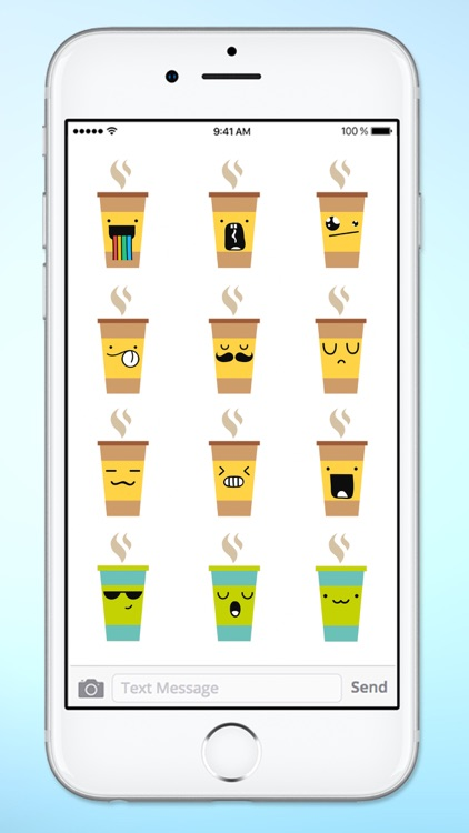 Cute Coffee Emojis Sticker Pack screenshot-4