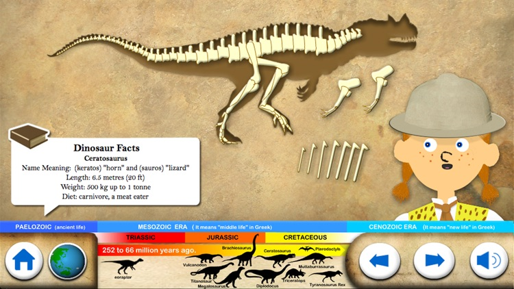 Dinosaur Fossils - History for kids screenshot-3