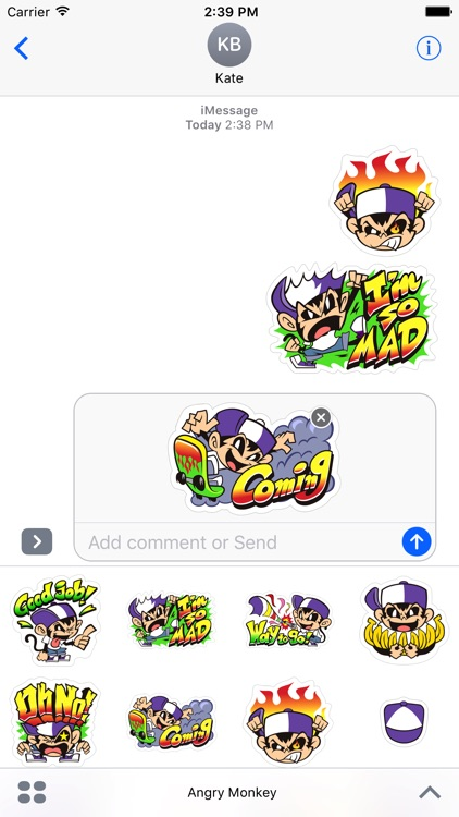 Angry Monkey Sticker screenshot-3