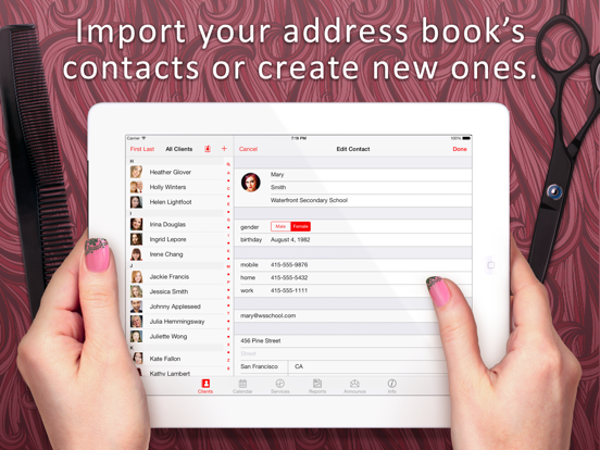 Salon Appointment Manager - Book and Schedule Beauty Services for Your Clients screenshot