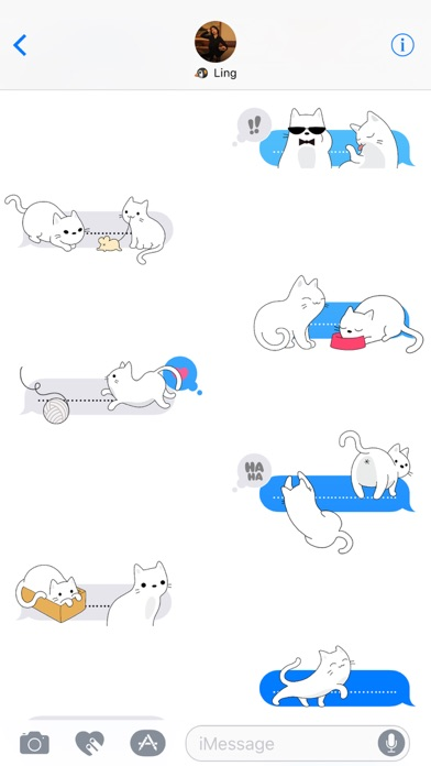 Yuki Neko - Kitty Cat Fun Pet Stickers screenshot three