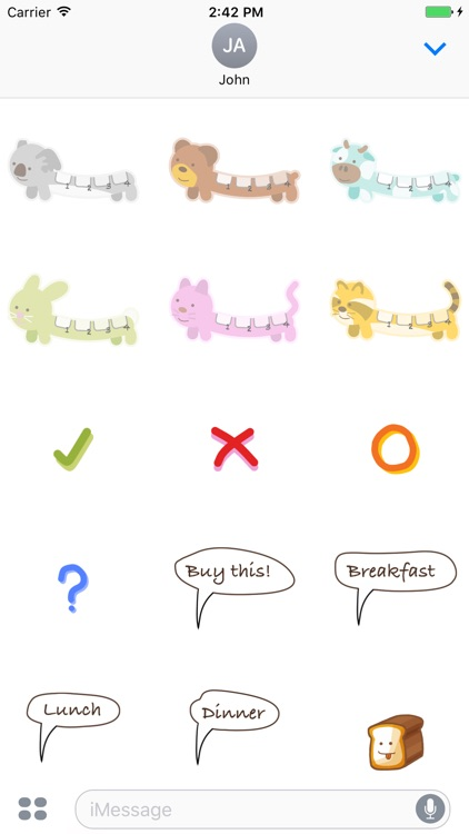 Grocery Animal Stickers