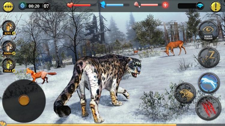 Forest Snow Leopard Sim screenshot-4