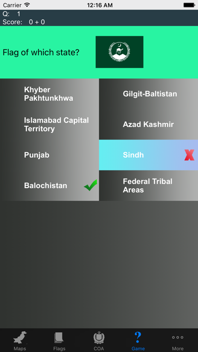 Pakistan State Maps Flags and Capitals screenshot two