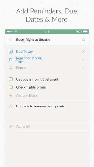 wunderlist to do list tasks on the app store