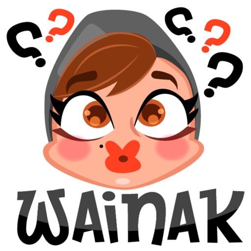 Arabian Lady Greetings stickers by MissChatZ