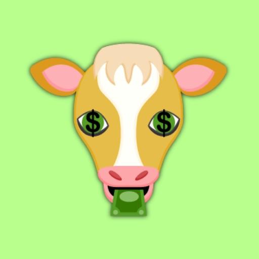 Gold Cow Emoji Stickers